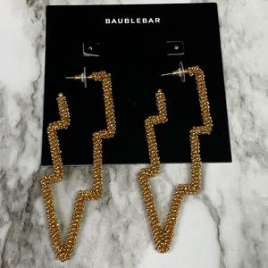 NWT Baublebar Storm Gold Beaded Drop Earrings